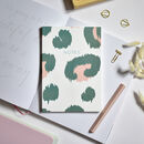 A5 Notebook Animal Print Notes Green