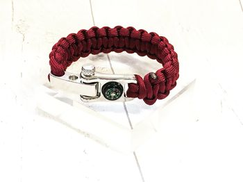 Personalised Paracord Bracelet With Mini Compass