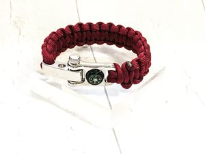 Personalised Paracord Bracelet With Mini Compass - bracelets