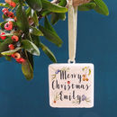 Personalised Christmas Berries Decoration