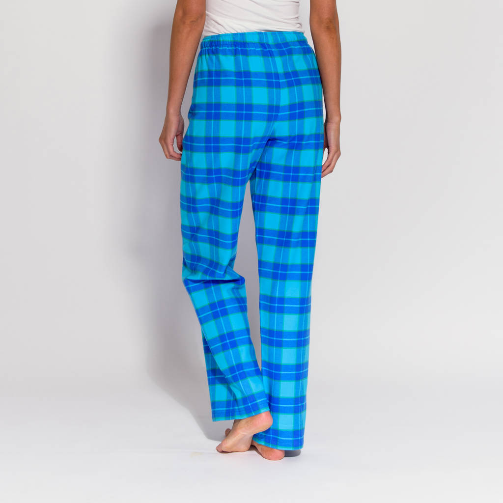 482115ca732 women s pyjama trousers in aqua tartan flannel by british boxers ...