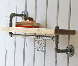 New York Industrial Pipe Shelf - shelves