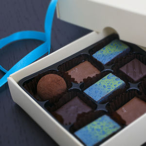 Sea Salt And Caramel Chocolates Box Of Nine - brand new sellers