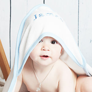 Personalised Hooded Baby Towel For Boys - gifts for babies