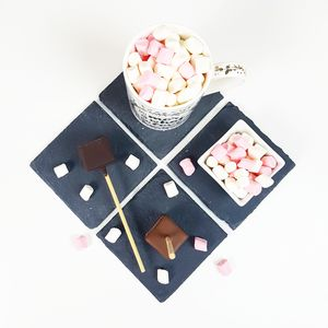 Three Set Luxury Hot Chocolate Sticks And Mini Mallows