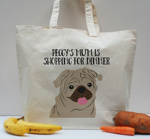 Personalised Dog Pet Tote Shopper Bag