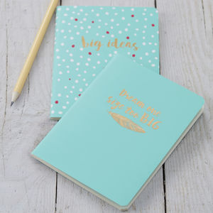Turquoise Notebooks - decorative accessories