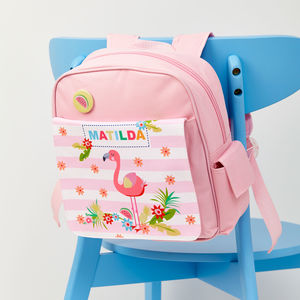 Girls Personalised Flamingo Mini Rucksack