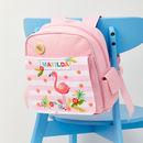 Girls Personalised Flamingo Mini Rucksack
