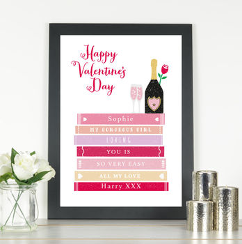 'Gorgeous Girl' Personalised Valentine's Day Print