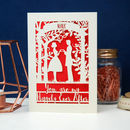 Papercut Happily Ever After Valentine's Card