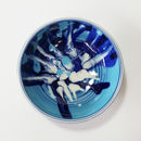 Handmade Blue Turquoise Small Ceramic Bowl Waves Series