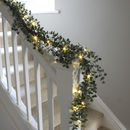 Eucalyptus And Red Berry LED Bannister Garland