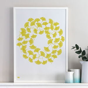 'Ginkgo Leaves' Screen Print - nature & landscape
