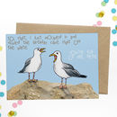 Rude Seagull Birthday Card