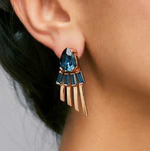 Arctic Midnight Statement Earrings - earrings