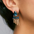 Arctic Midnight Statement Earrings