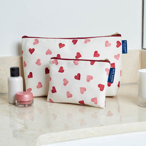 Emma Bridgewater Hearts Wash Bag And Makeup Purse Set