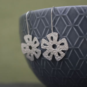 Sterling Silver Watercolour Daisy Earrings