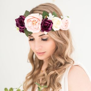 Boho Floral Crown - bridal hairpieces