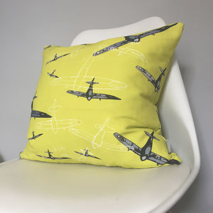 Linen Spitfire Cushion - children's cushions