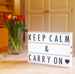 Customisable Lightbox Message Board