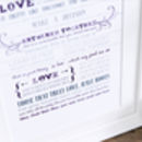 'Love Is A Temporary Madness' Wedding Anniversary Print