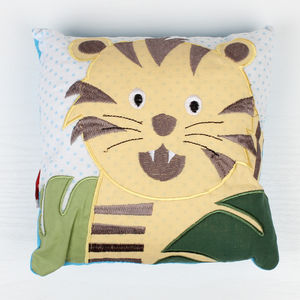 Jungle Tiger Small Filled Pillow - children's room