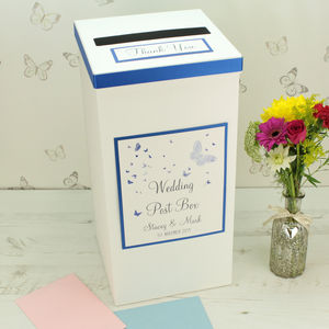 Personalised Papillon Wedding Post Box - summer sale