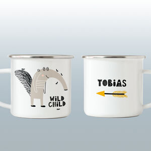 Child's Personalised Enamel Mug