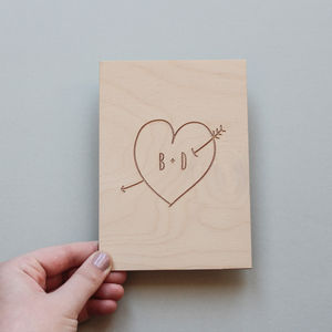 Personalised Wooden Love Card