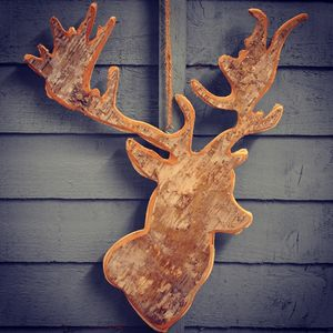 Birch Bark Reindeer Decoration - tree decorations
