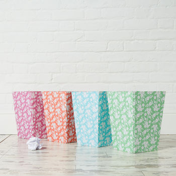 Recycled Daisy Print Waste Paper Bin Large