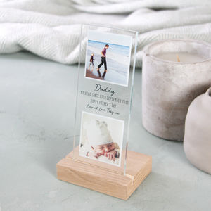 Floating Photo Father's Day Glass Strip - new in prints & art