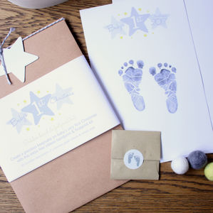 Baby's First Christmas Inkless Hand And Footprint Kit - new baby gifts