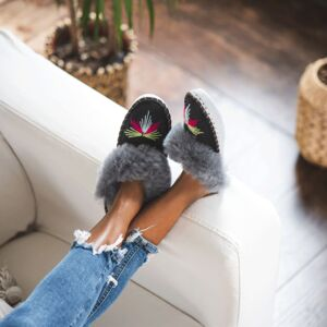 The Light Grey Sheepers Mule Slippers