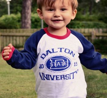 Personalised University Kids Raglan Baseball Top