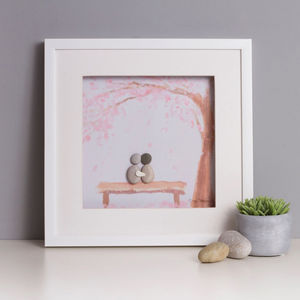Personalised 'Just Us' Pebble Picture - prints & art sale