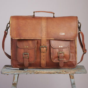 Personalised One Strap Leather Satchel - accessories