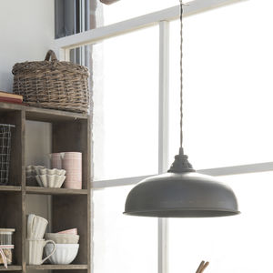 Black Factory Style Pendant Light With Flex - pendant lights