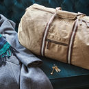 Personalised Vintage Canvas Holdall