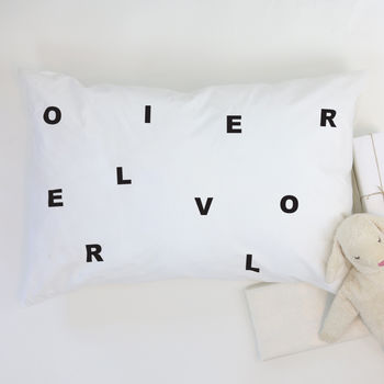 Letters Pillowcase Personalised
