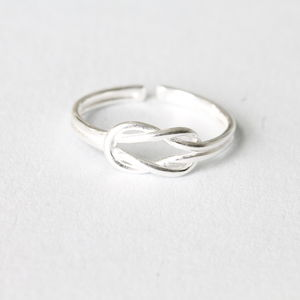Sterling Silver Love Knot Ring - rings