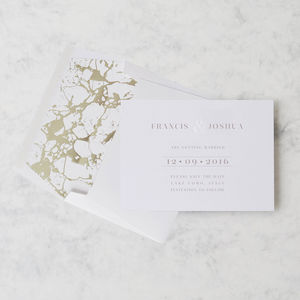 'Etched In Time' Letterpress Save The Date - save the date cards