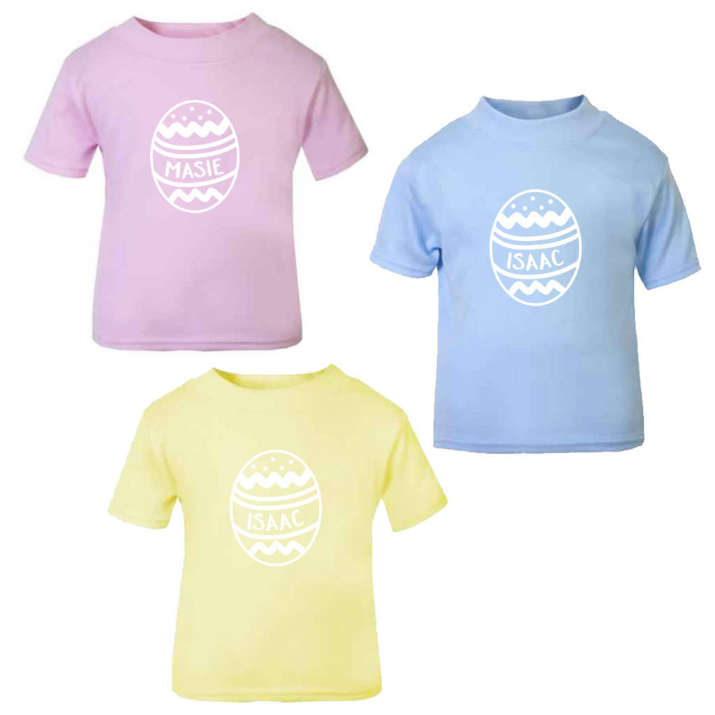 d96fdcac4 personalised easter egg childrens t shirt by blueberry boo kids ...