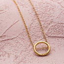 Personalised Medium Hoop Necklace in yellow gold plate