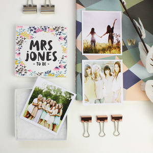 Personalised 'Bride To Be' Photos In A Box - people & portraits