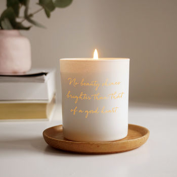 Personalised Quote Candle