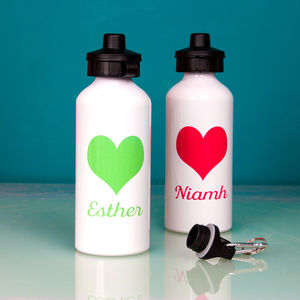 Personalised Bright Heart Water Bottle