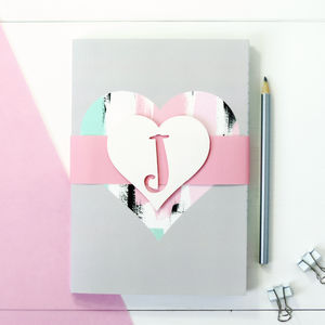 Personalised Love Heart Notebook Set